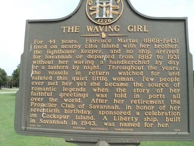 The Waving Girl Marker image. Click for full size.