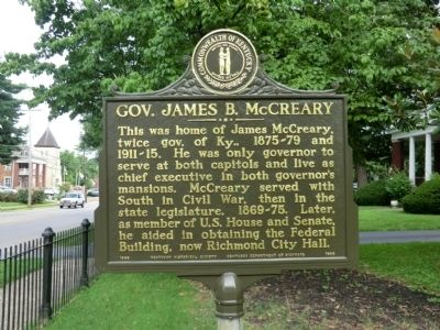 Gov. James B. McCleary Marker image. Click for full size.
