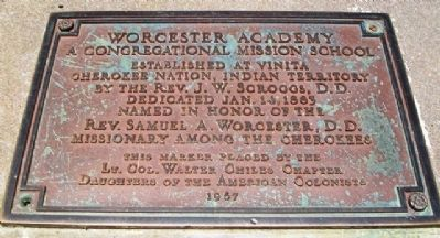 Worcester Academy Marker image. Click for full size.