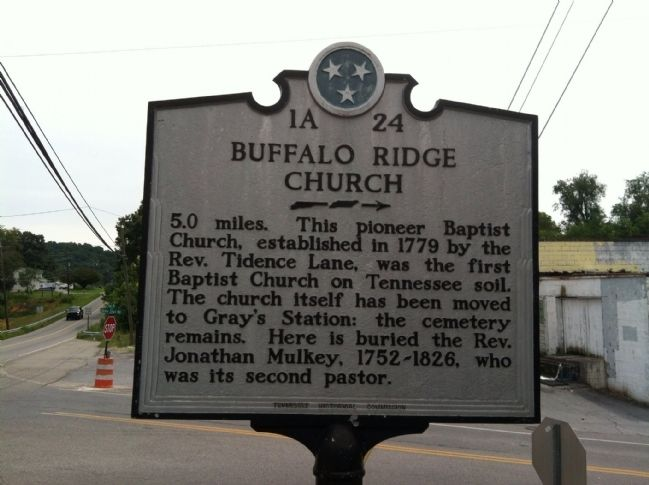 Buffalo Ridge Church Marker image. Click for full size.