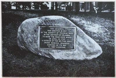 Then<br>1907 photo of Braddock Boulder image. Click for full size.