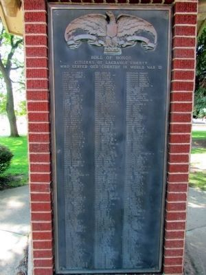 """E-L"" - LaGrange County W.W.II Roll of Honor image. Click for full size."