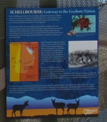 Schellbourne: Gateway to the Goshute Nation Marker image. Click for full size.