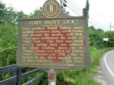 Side 2 - Fort Paint Lick Marker image. Click for full size.