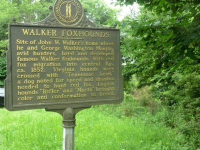 Walker Foxhounds Marker image. Click for full size.