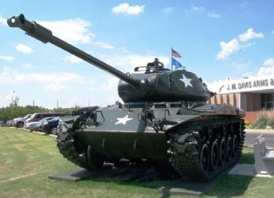 "US Army M-41 ""Walker Bulldog"" Light Tank and Bench image. Click for full size."