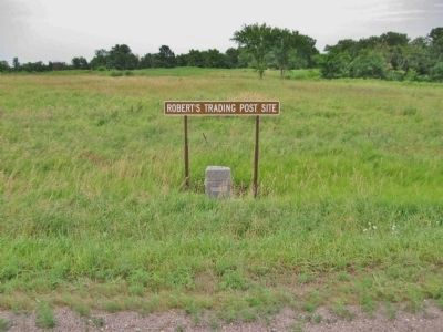 Robert's Trading Post Site and Marker image. Click for full size.