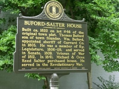 Buford-Salter House Marker image. Click for full size.