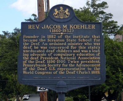 Rev. Jacob M. Koehler Marker image. Click for full size.
