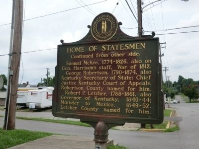 Home of Statesmen Marker image. Click for full size.