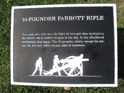 10-Pounder Parrott Rifle Marker image. Click for full size.