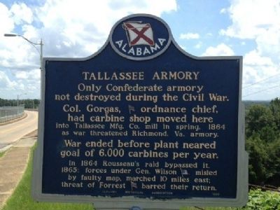 Tallassee Armory Marker image. Click for full size.