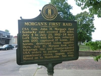 Morgan's First Raid Marker image. Click for full size.