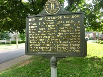 Home of Governor Morrow Marker image. Click for full size.