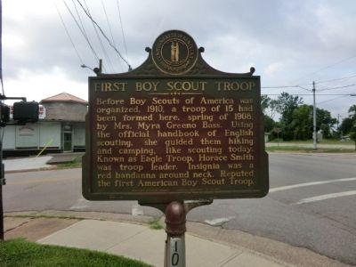 First Boy Scout Troop Marker image. Click for full size.