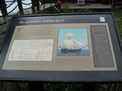 The <i>Adventure</i>, Trading Ketch Marker image. Click for full size.