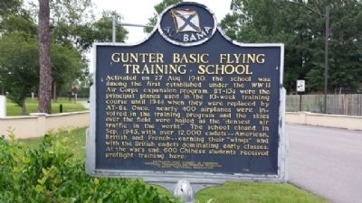 Gunter Basic Flying Training School Marker image. Click for full size.