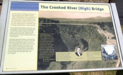 The Crooked River (High) Bridge Marker image. Click for full size.