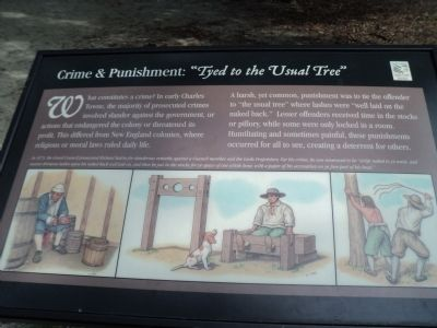 "Crime & Punishment: ""Tyed to the Usual Tree"" Marker image. Click for full size."