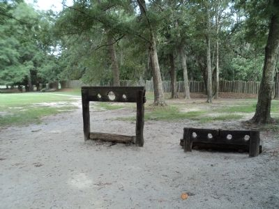 Stocks and Pillory at Charles Towne Landing image. Click for full size.