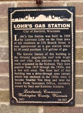 Lohr's Gas Station Marker image. Click for full size.