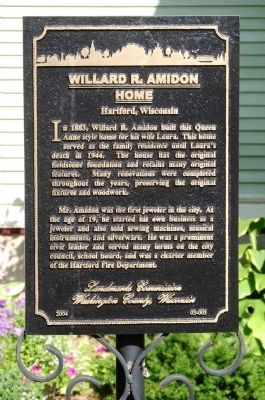 Willard R. Amidon Home Marker image. Click for full size.