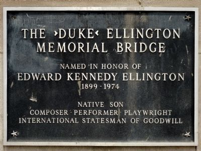 The ›Duke‹ Ellington Memorial Bridge Marker image. Click for full size.