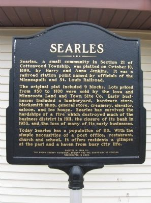 Searles Marker image. Click for full size.