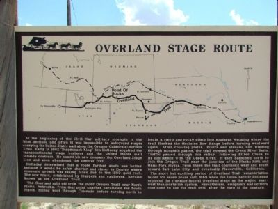 Overland Stage Route Marker image. Click for full size.