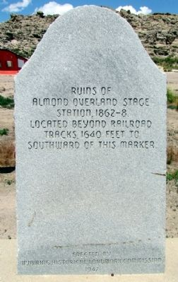 Almond Overland Stage Station Marker image. Click for full size.