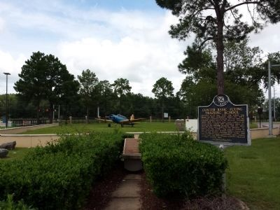 Marker looking towards north gate of Gunter AFB. image. Click for full size.