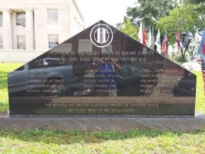 Wetumpka Vietnam War Memorial Marker image. Click for full size.