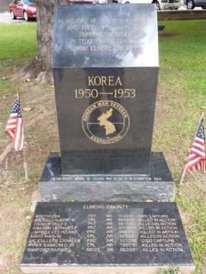 Elmore County Korean War Memorial Marker image. Click for full size.