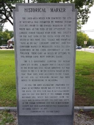 Wetumpka Historical Marker image. Click for full size.
