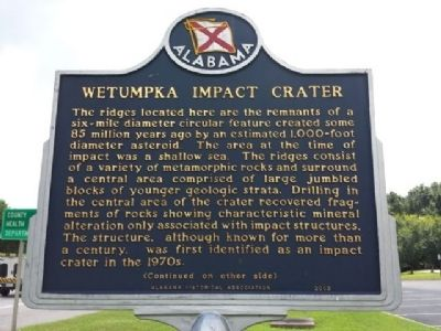 Wetumpka Impact Crater Marker image. Click for full size.