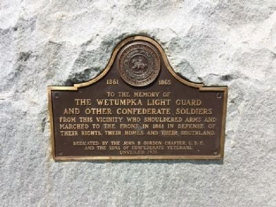 The Wetumpka Light Guard Marker image. Click for full size.