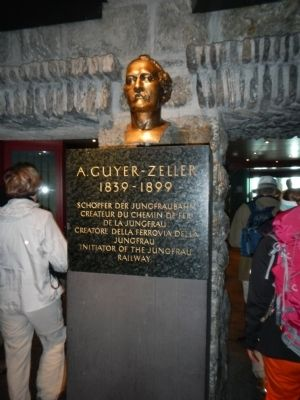 Bust of Adolf Guyer-Zeller at the Jungfraujoch Station image. Click for full size.