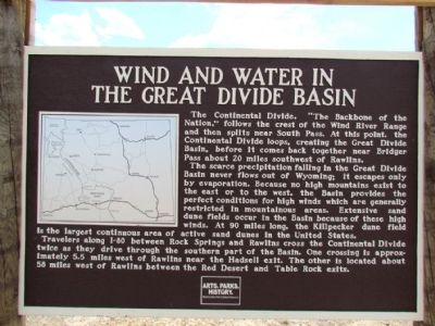 Wind and Water in the Great Divide Basin Marker image. Click for full size.