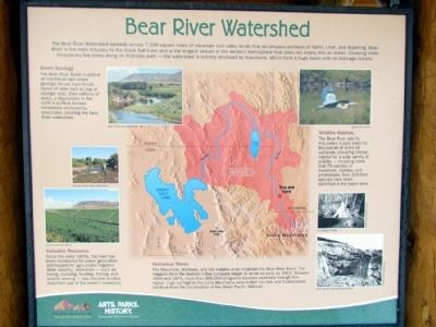 Bear River Watershed Marker image. Click for full size.