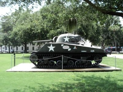 """Thunderbolt"" Sherman Tank image. Click for full size."