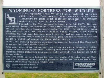 Wyoming - A Fortress for Wildlife Marker image. Click for full size.