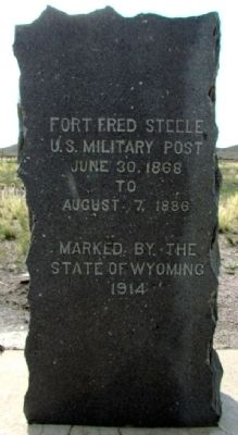 Fort Fred Steele Marker image. Click for full size.