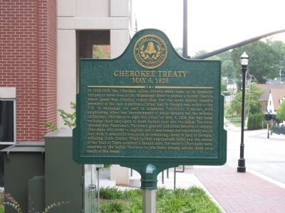 Cherokee Treaty Marker image. Click for full size.