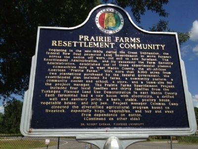 Prairie Farms Resettlement Community Marker image. Click for full size.