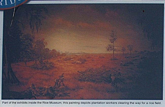 Painting Depicts Plantation Workers Clearing The Way For A Rice Field image. Click for full size.