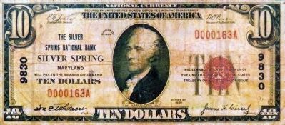 "Why is ""Silver Spring"" printed on this bill? image. Click for full size."