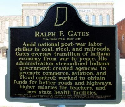 Ralph F. Gates Marker image. Click for full size.