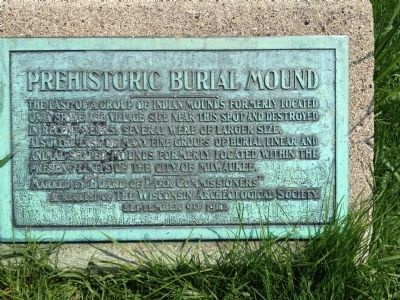 Prehistoric Burial Mound Marker image. Click for full size.