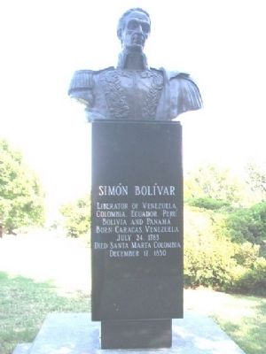 Simón Bolívar Monument image. Click for full size.