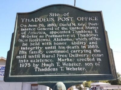Thaddeus Post Office Marker image. Click for full size.